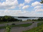 widok na jezioro z drogi 51