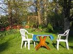 otoczenie domku, meble ogrodowe